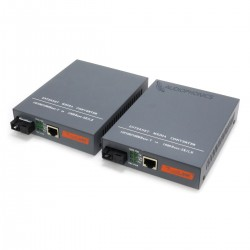 Ethernet Switch Converter 10/100/1000Base-TX to Optical 1000Base-SX/LX (Pair)