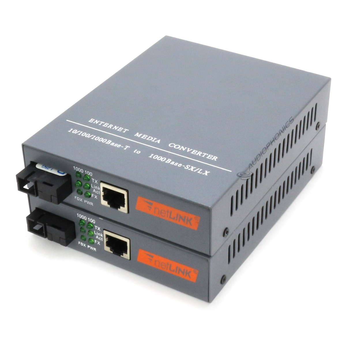 Ethernet to Optical Fiber Converter (Pair)