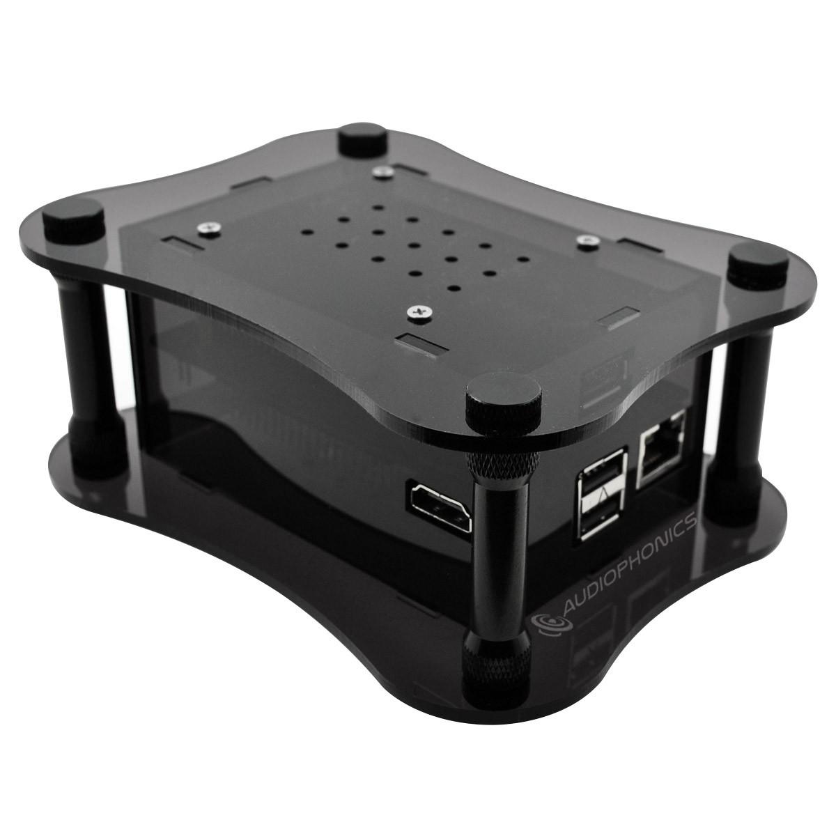 ALLO USBRIDGE Black Acrylic - Audio Streamer Squeezelite Volumio for USB DAC