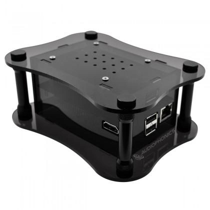 ALLO USBRIDGE Acrylique Noir - Lecteur réseau audio Squeezelite DietPi ROON pour DAC USB