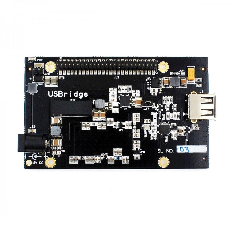 ALLO USBRIDGE Black Acrylic - Audio Media player Squeezelite DietPi