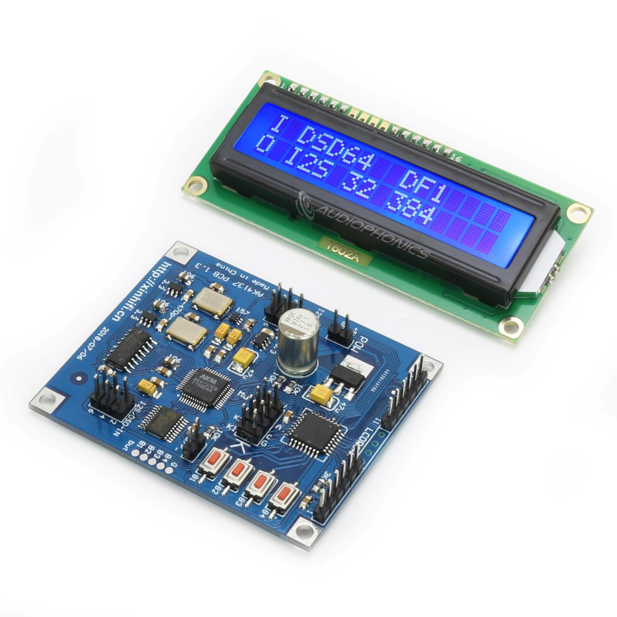 Digital Upsampling Interface SRC AK4137 I2S 32bit 384kHz DSD256 with Screen
