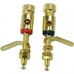 ELECAUDIO BP-121 Gold plated Terminals for 19mm wooden panels (Pair)