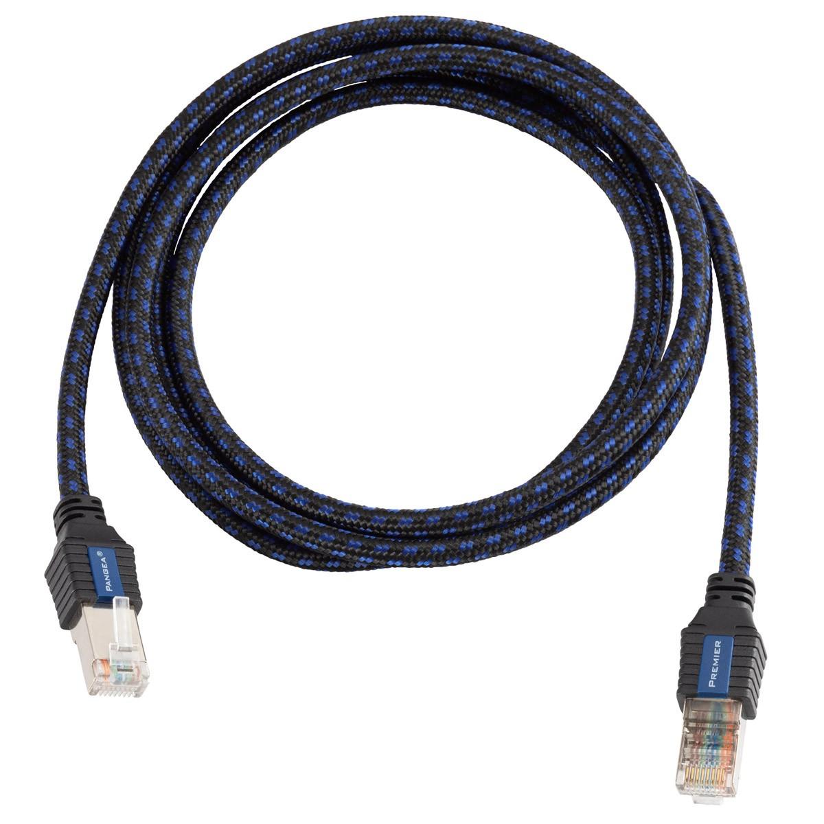 PANGEA PREMIER Cat7 RJ45 Ethernet Cable Silver Plated Copper Triple Shielding 0.129mm² 5m
