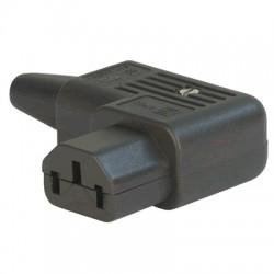 Connecteur IEC C13 SCHURTER 4785 3x2.5mm² RoHS Coudé 90° Ø10mm
