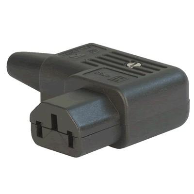 Connecteur IEC C13 SCHURTER 4785 Coudé Ø10mm