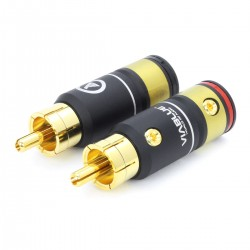 VIABLUE T6S Gold Plated RCA Connectors Ø9.5mm (Pair)