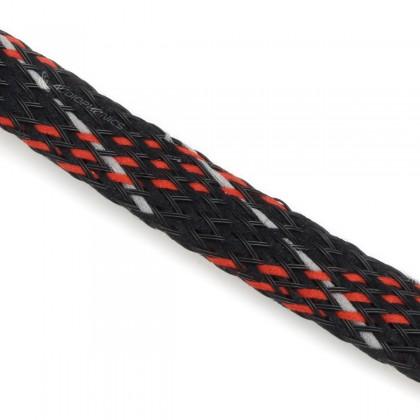 VIABLUE Braided Sleeve Red Black Ø6-14mm