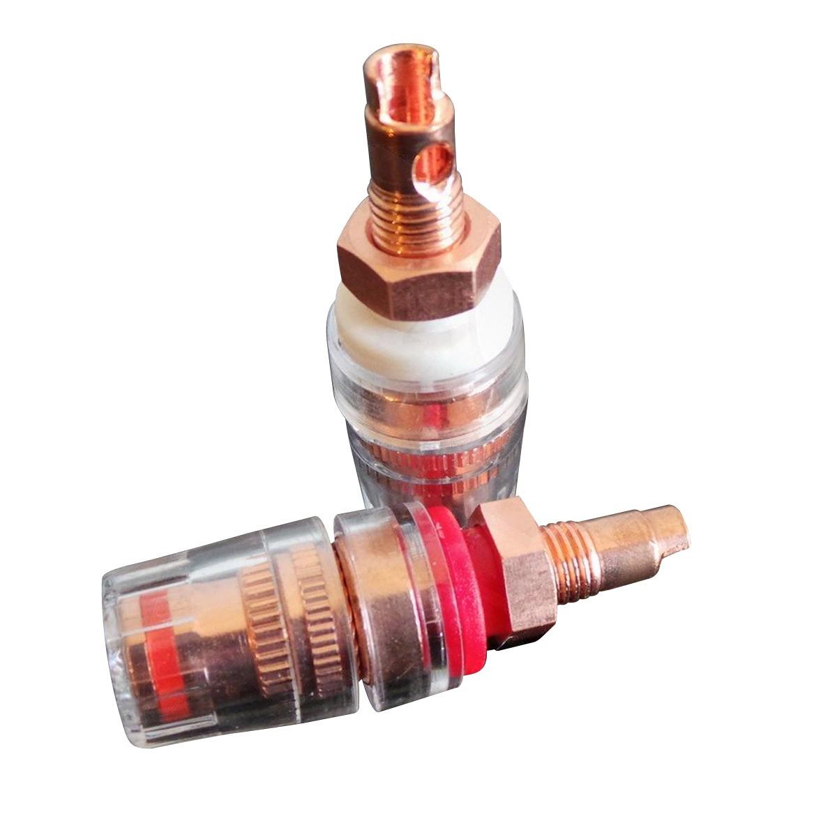 CC RCS S Borniers Courts Cuivre Red Copper Isolés Traitement Cryogénique (La paire)