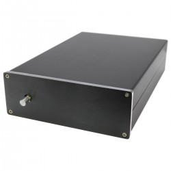 Amplifier Case DIY 100% Aluminum 190x310x85mm Black