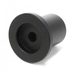 Bouton Aluminium Axe Méplat 30x35x26mm Ø6mm Noir