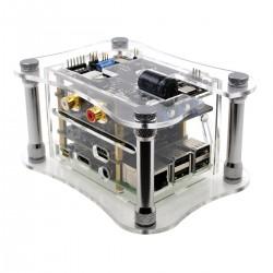 ALLO RPI+KATANA+ISOLATOR V1.2 CASE Boîtier Acrylique pour Raspberry 3 + Katana + Isolator V1.2 Transparent