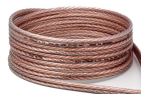 MIX-STREAM MX4 Câble Haut-parleur Cuivre / Argent 2x4.0mm²