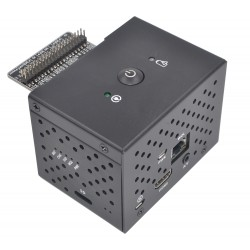 Boîtier Aluminium avec Bouton pour Raspberry Pi et X720