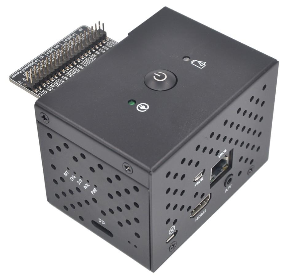 SUPTRONICS Boîtier Aluminium avec Bouton pour Raspberry Pi et X720