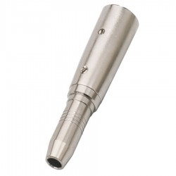 Adaptateur XLR Or mâle vers jack 6,35mm femelle stéréo
