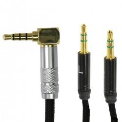 HIFIMAN Câble Crystallin symétrique pour HIFIMAN série HE 1.5m