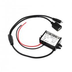TINYSINE DC-DC Converter 8-52V to 5V Micro USB / USB-A