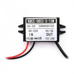 TINYSINE DC-DC Converter 8-25V to 5V USB