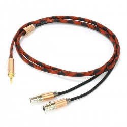 1877PHONO HEMI-X Jack 3.5mm to 2x Mini XLR Headphone Cable OCC Copper Shielding 1.5m