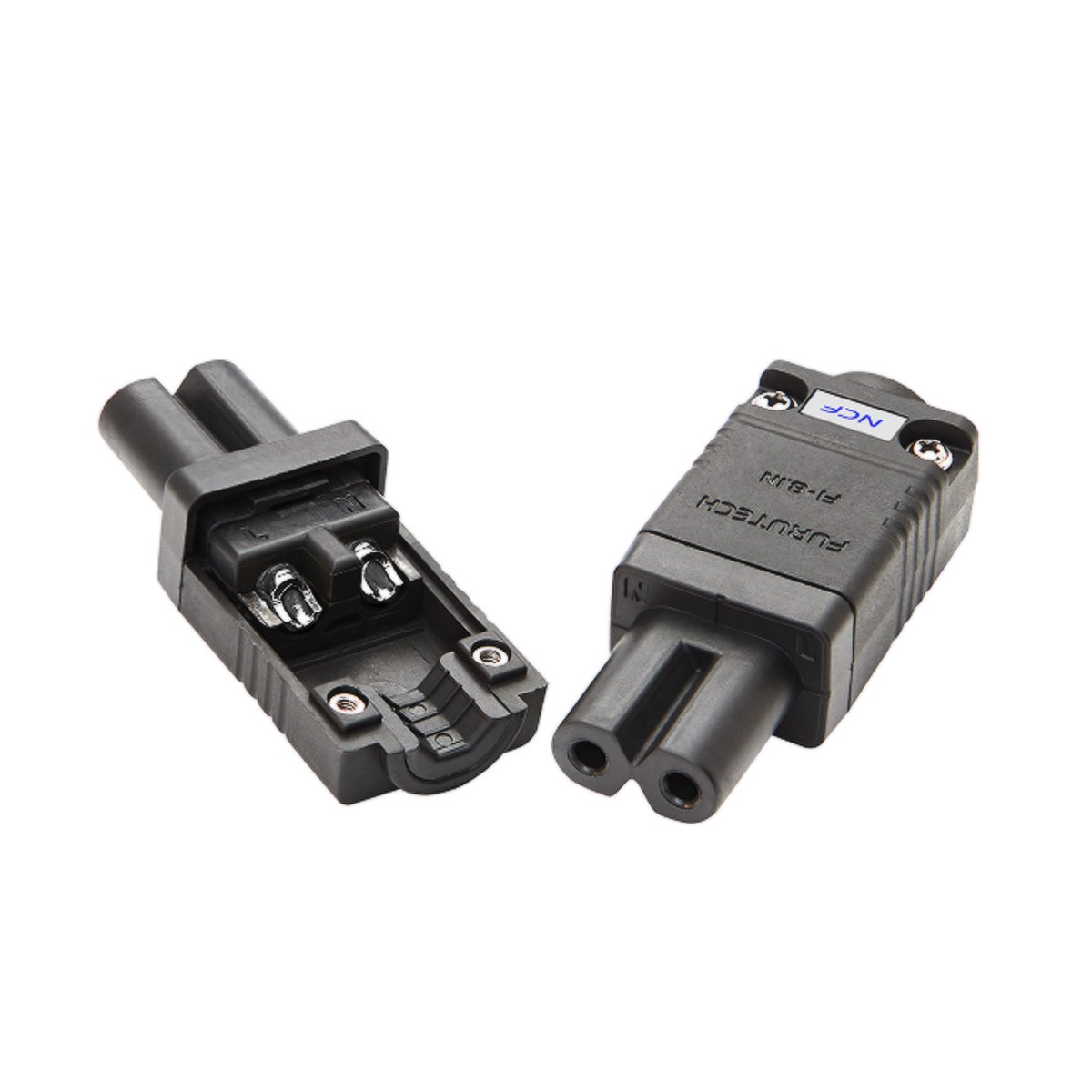 FURUTECH FI-8.1(R) NCF Connecteur IEC C7 Plaquage Rhodium NCF Traitement Alpha Ø10.5mm