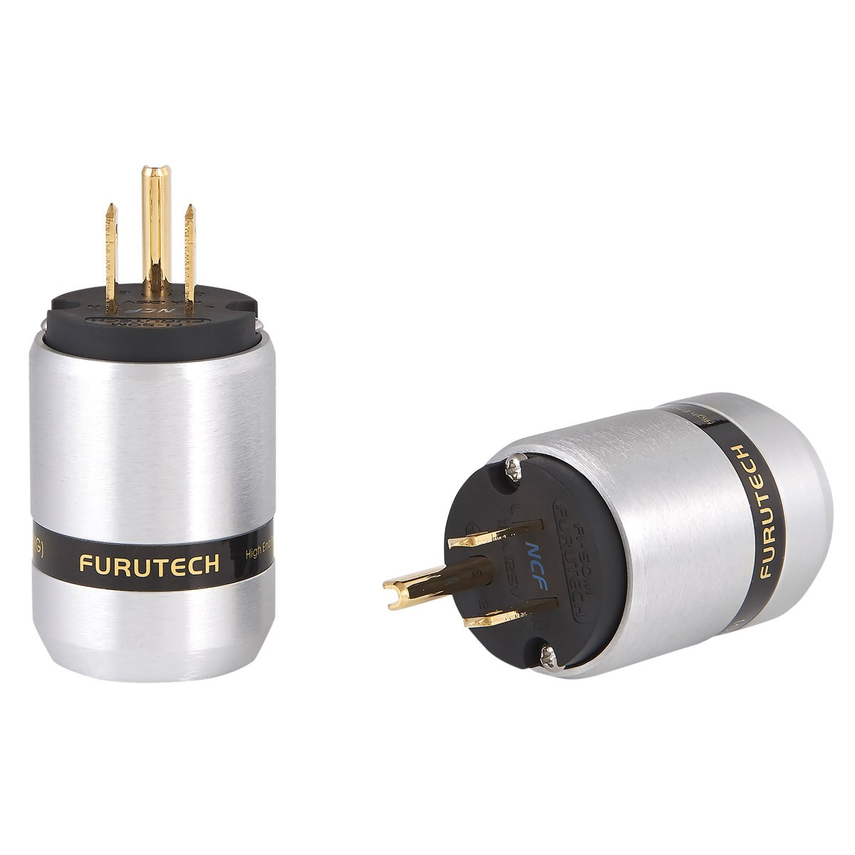 FURUTECH FI-46M NCF (G) Gold Plated Copper USA NEMA 5-15 Connector Alpha Treatment NCF Ø20mm
