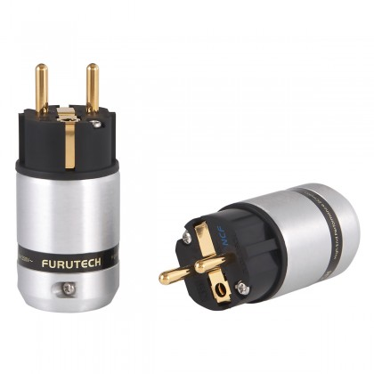FURUTECH FI-E46 NCF (G) Gold Plated Copper Schuko Connector Alpha Treatment NCF Ø20mm