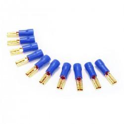 MUNDORF 2.8G Cosses Femelles 2.8mm Isolées Plaquées Or 1,5-2,5mm² Bleu (Set x10)
