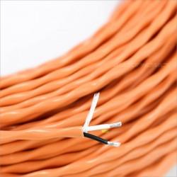Câble de modulation symétrique Argent PTFE jaune 2x0.8mm² Ø 4mm