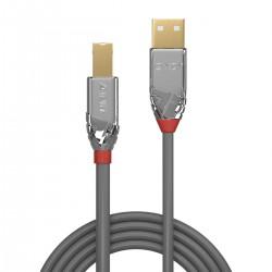 LINDY CROMO LINE Câble USB-A Mâle vers USB-B Mâle 2.0 Plaqué Or 5m