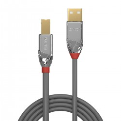LINDY CROMO LINE Gold Plated Male USB-A / Male USB-B 2.0 Cable 5m
