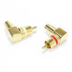 DYNAVOX Gold Plated Angled RCA Adapter