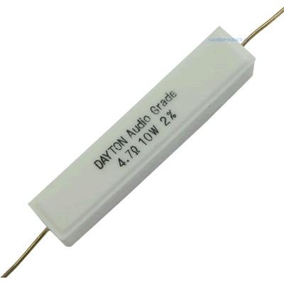 DAYTON AUDIO DNR Precision Ceramic Resistor 10W 4.7 Ohm