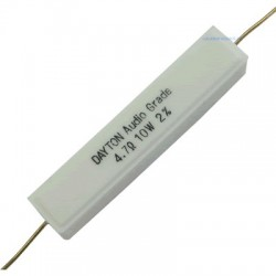 DAYTON AUDIO DNR 10W - Precision Ceramic Resistor 6.5ohm