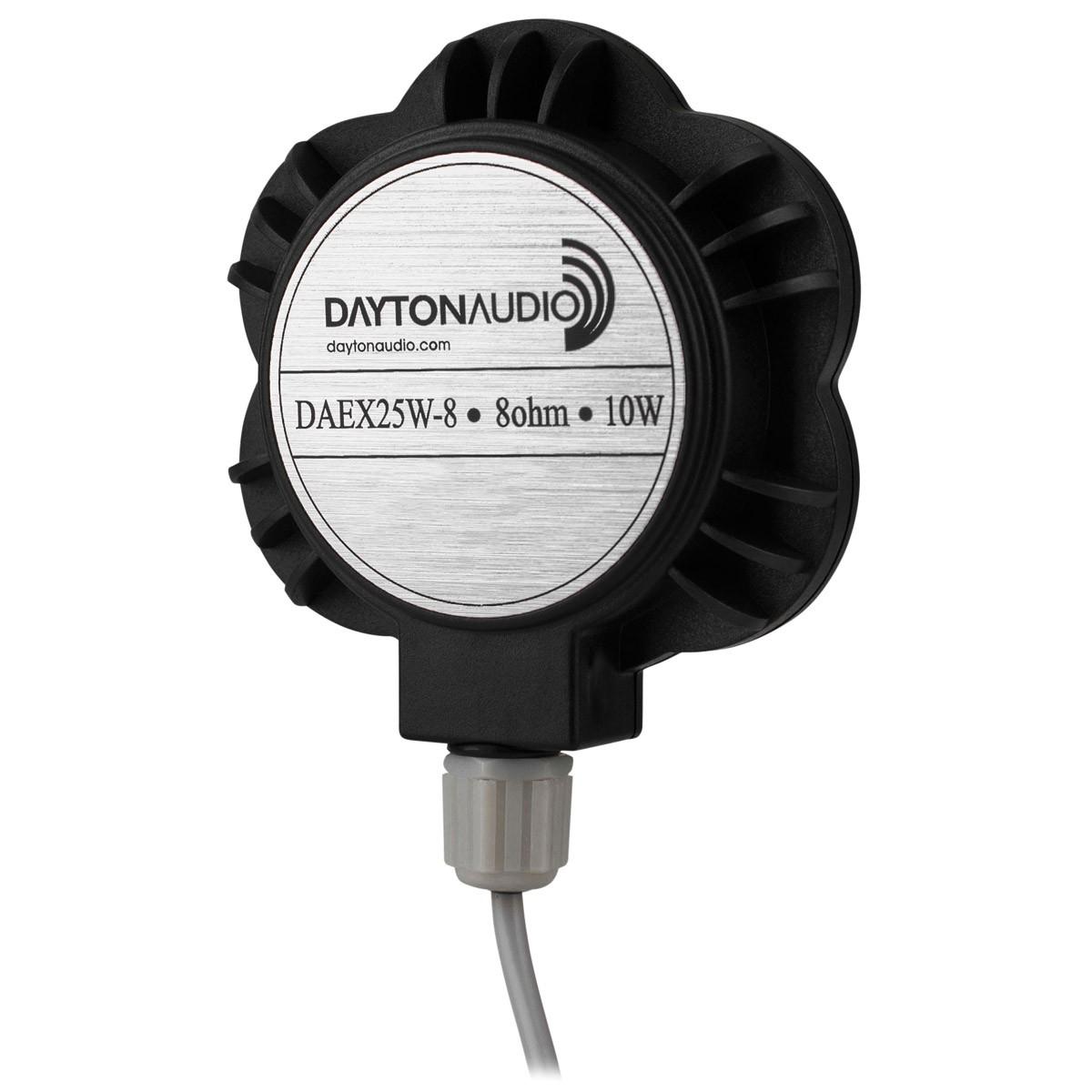 DAYTON AUDIO DAEX25W-8 Waterproof Speaker Driver Exciter Bodyshaker Full Range 10W 8 Ohm Ø25mm