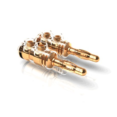 Viablue TS Banana Plug Gold Plated Ø 5mm (Set x4)