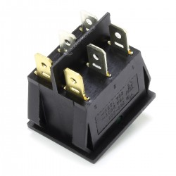 Dual NO Light Switch 250VAC 15A Jaune