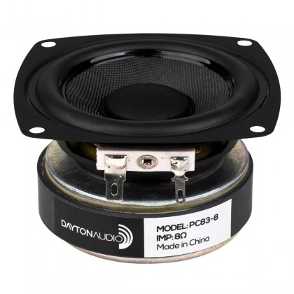 DAYTON AUDIO PC83-8 Haut-Parleur Large Bande 30W 8 Ohm 85.6dB 80Hz-20khz Ø7.6cm