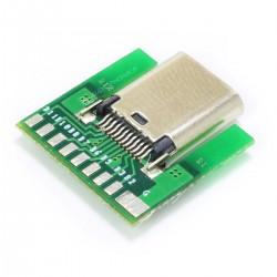 Embase USB-C 3.1 Femelle SMT avec PCB