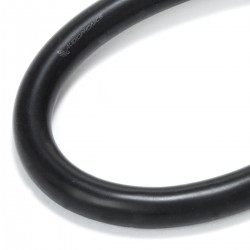 Fil de Câblage Cuivre OFC Étamé 2.6mm² Gaine Silicone Ø5mm Noir