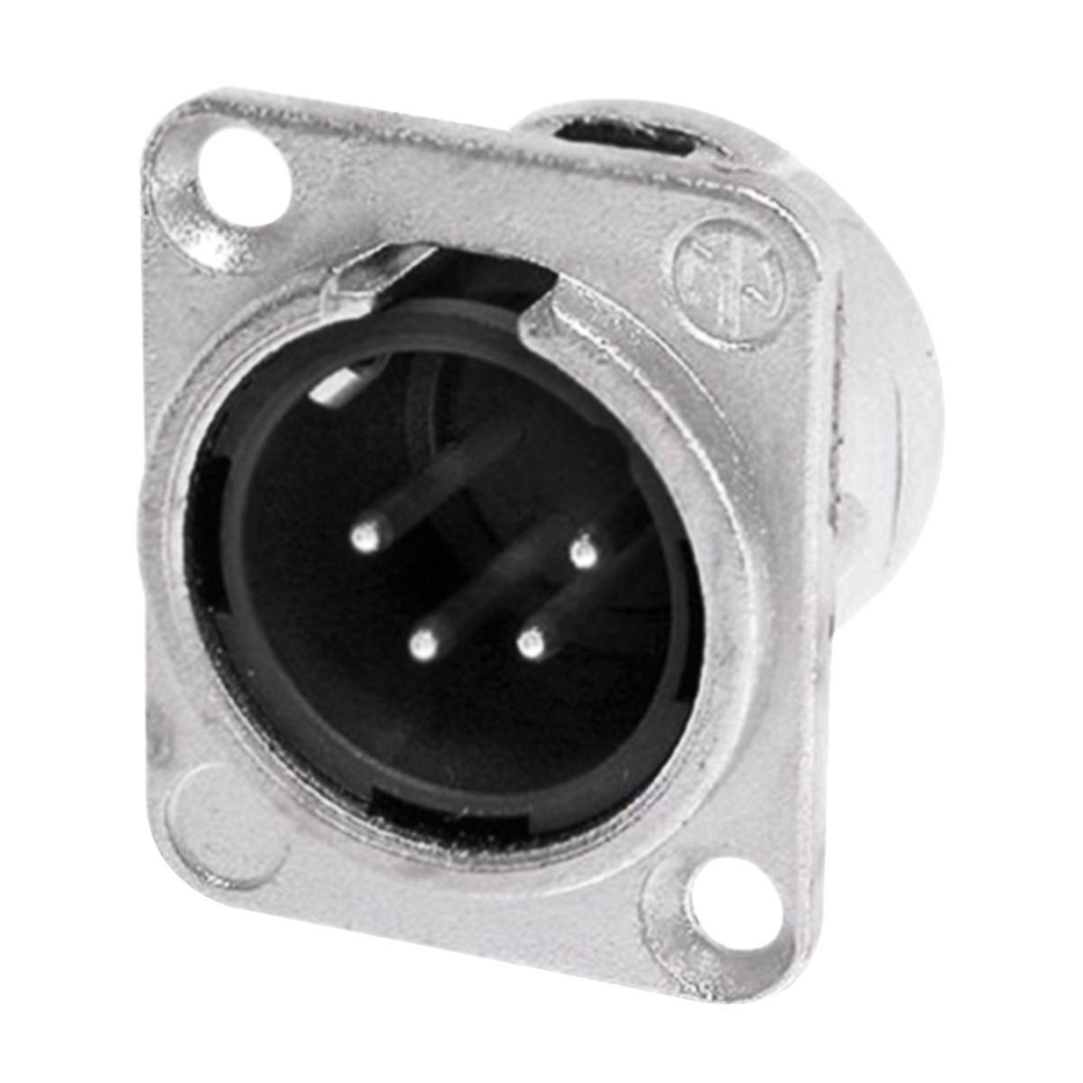 NEUTRIK NC4MD-L-1 4 Poles Male XLR Plug Silver Plated
