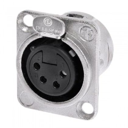 NEUTRIK NC4FD-L-1 4 Poles FeMale XLR Plug Silver Plated