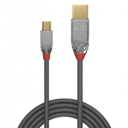 LINDY CROMO LINE Male USB-A to Male Micro USB-B Cable 2.0 Gold Plated 3m