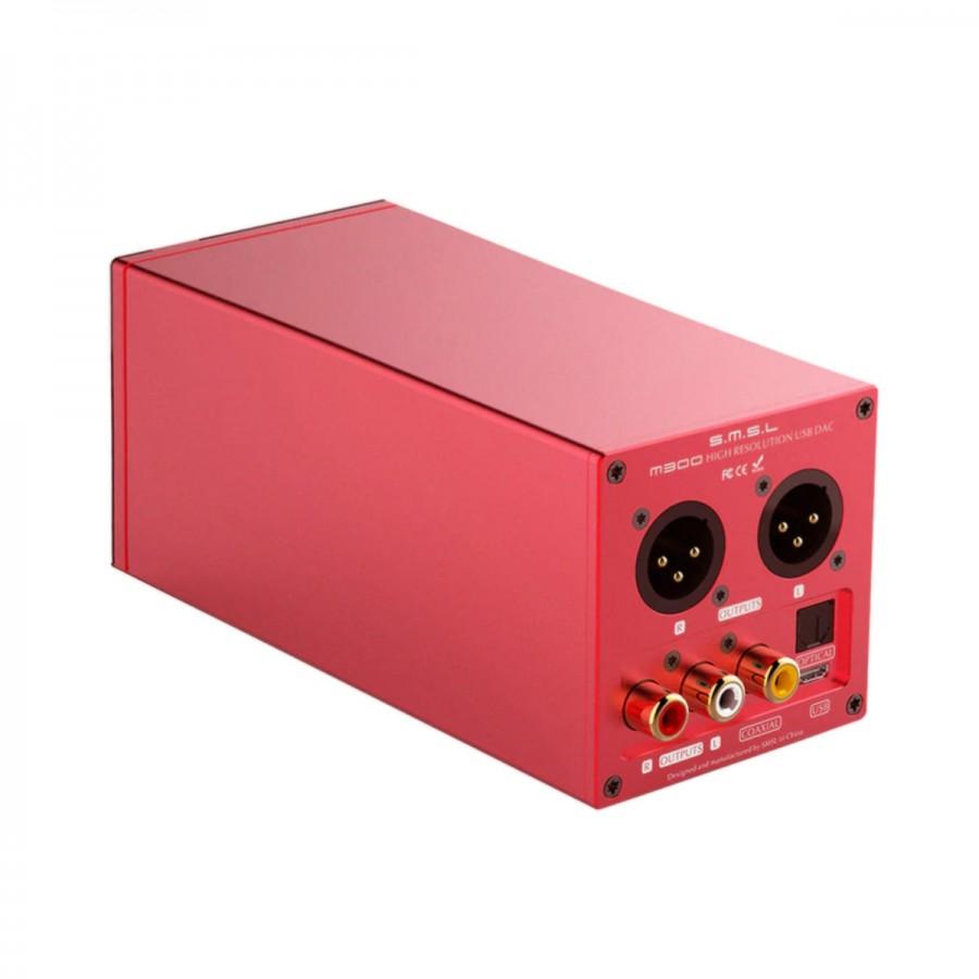 SMSL M300 DAC AKM AK4497 XMOS Dual NDK Clock 32bit 768kHz DSD512 Red