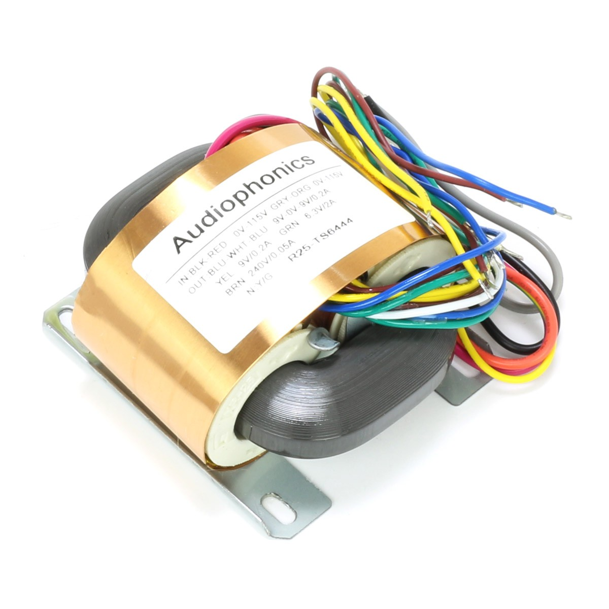 Transformateur R-CORE 30VA 9V-0-9V 0.2A + 9V 0.2A + 6.3V 2A + 240V 0.05A