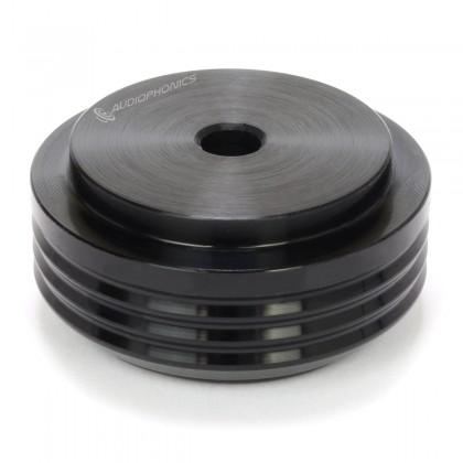 Pied Aluminium Anodisé Ø30x14mm Noir
