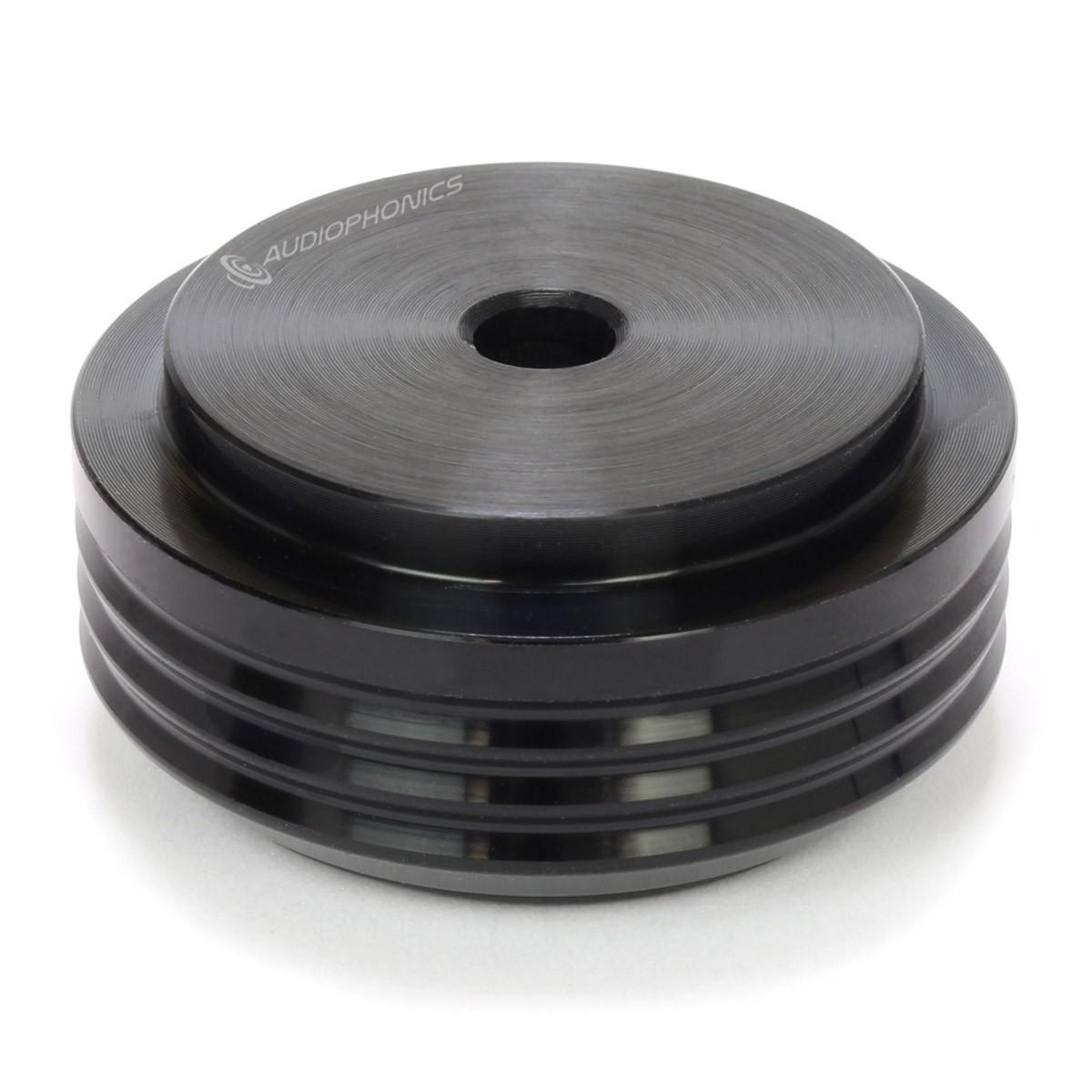 Pied Aluminium Anodisé Ø30x14mm Noir (Unité)