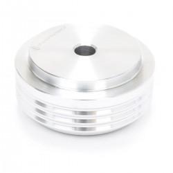 Pied Aluminium Anodisé Ø30x14mm Argent