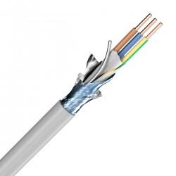 SOMMERCABLE NYM-ST-J Câble Secteur Cuivre OFC 3x2.5mm² Ø10.9mm Gris