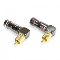 Connecteur RCA 90° Angled Gold Plated Ø6mm (Pair)